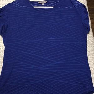 Daisy Fuentes Blue patterned blouse